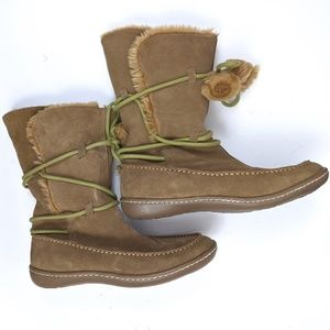NEW Steve Madden Tan IGLOU Suede Winter Booties 8